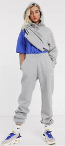 Nike Mini Swoosh Oversized Grey Joggers Women's