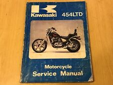 1984/85 KAWASAKI 454LTD 454 LTD MOTORCYCLE GENUINE PAPER FACTORY SERVICE MANUAL