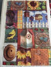 New listing Toland Birdhouse Ladybug Flowers Bees Large House Garden Flag