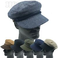 Cool Unisex 100% Cotton Greek Fisherman Sailor Fiddler Driver Cadet Cap Hats