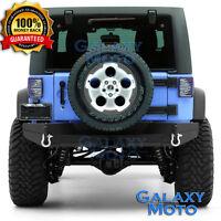 """Rock Crawler Heavy HD FULL Width Rear Bumper+2"""" Hitch for 07-18 Jeep JK Wrangler"""