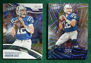 Andrew Luck football card lot (2) RARE #d 10/10 & /99 Panini National Colts Mint