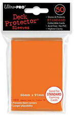 10x PACKS of STANDARD SIZE Ultra-Pro ORANGE Card Sleeves 50ct BRAND NEW!