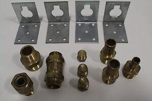 Set of (13) Gastite Various Brass XR2 Series Fittings