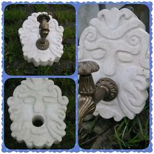 mascherone fontana marmo travertino  scolpito a mano,beige,nuovo