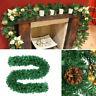 2.7M Artificial Green Christmas Garland Wreath Xmas Tree Rattan Home Party Decor