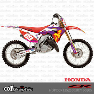 GRAPHICS DECALS FULL KIT FOR HONDA CR125 CR250 2002-2007 POLISPORT RESTYLE KITS