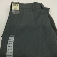 Kenneth Cole Reaction Dress Pants Sz 34 x 32 Gray Flat Front Trouser New