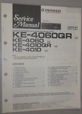 Pioneer AM-FM Stereo Cassette KE-4060QR KE-4010 Service Manual & Cassette CX-166