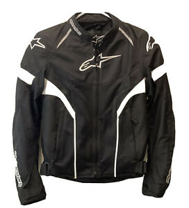 Alpinestars Women's Large Stella T-GP Plus R Air Motorcycle Jacket Black White