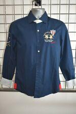 LA MARTINA Blue Cotton Men's Button down Shirt Size Small On Sale kp