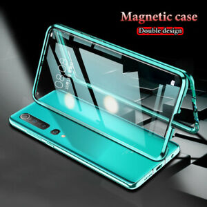 For Xiaomi Mi 10 10T Pro Note 10 Lite 360°Magnetic Double Sided Glass Cover Case