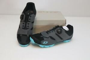 New Giro Women's Cylinder MTB Bike Shoes 40 8.5 Gray Cycling BOA Mountain SPD