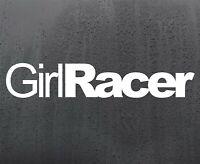GIRL RACER vinyl sticker funny car decal van window JDM DUB graphics bumper