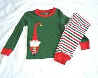 Gymboree PJ Girls Long Sleeve Pajamas ELF Green Red Holiday 4