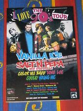 I LOVE THE 90'S - 2017 Australian Tour  VANILLA ICE SALT N PEPA Laminated Poster