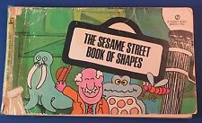 Vintage SESAME STREET BOOK OF SHAPES 1st ed print 1971 repaired, fair condition.