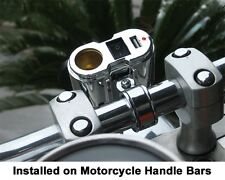 NEW EKLIPES  Chrome Cobra Ultimate Motorcycle USB Charging System IPHONE DROID