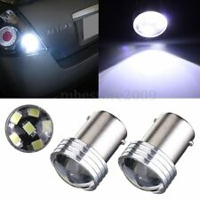 2x White 1156 BA15S 6 SMD 2835 LED Turn Signal Rear Light Car Bulb Lamp Bulb 12V