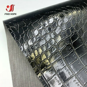 Crocodile Pattern PU Leather Fabric Embossed faux vinyl For Bag Sewing Craft DIY