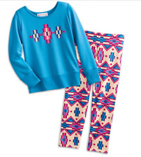 American Girl Kaya's Blue Patterned Pajama's for Girls Size L (14-16) NEW