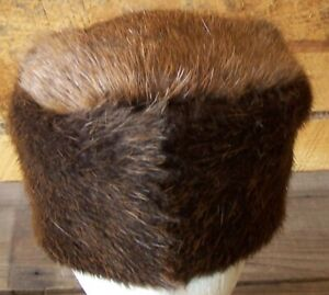 HAND MADE BEAVER FUR  HAT RENDEZVOUS BLACK POWDER MOUNTAIN MAN