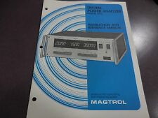 Magtrol Instruction And Reference Manual For Digital Power Analyzer Model 4612