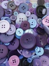 100 Purple Sewing Buttons Free Shipping