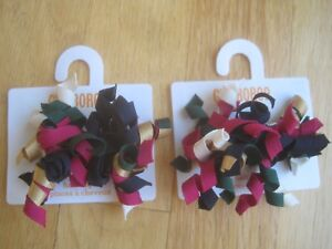 GIRL Gymboree MULTICOLOR RED CURLIES clips barrettes NWT 2T 3T 4T 5T 5 6 twins?