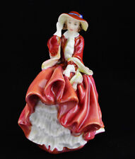 """Royal Doulton Figurine Top Of The Hill Red Dress Hn1849 (7 1/4"""" Tall)"""