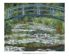 "MONET CLAUDE - JAPANESE FOOTBRIDGE, 1899 - ART PRINT POSTER 26"" X 32"" (1991)"