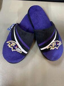 Baltimore Ravens NFL Men's Slide Slippers, Size Medium (9/10) ~ NWT