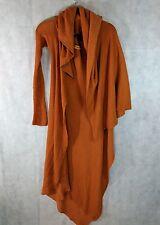 Rick Owens SS05 Scorpio Asymmetrical Orange Shawl Sweater Size US10