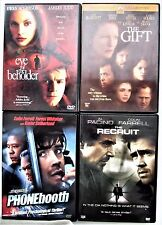 4 Psych Thrillers: Eye of Beholder, The Gift, Phonebooth, Recruit. GREAT CASTS!