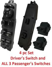 NEW 4pc SET for 1997-2001 Jeep Cherokee Electric Power Window Master Switch