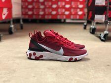 Nike React Element 55 Mens Running Shoes Red/White/Black BQ6166-601 NEW Multi Sz