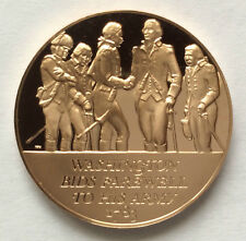 1971 Franklin Mint Washington Bids Farewell to Army Proof Bronze Medal A3435