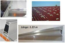 PV Montage Trapezblech. Aluschiene 60 mm. 1.23m. Für 4 – 6 Halter Solarmodule.