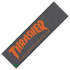 "Thrasher/MOB MAGAZINE ""Logo"" Skateboard Griptape 9"" X 33"" noir/orange"