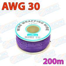 Bobina 200m Cable hilo AWG30 - VIOLETA - Arduino Electronica DIY