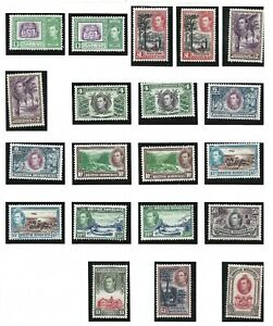 BRITISH HONDURAS  1938 - 47  S G 150 - 161  SET OF 12 + SHADES MH  CAT £200+
