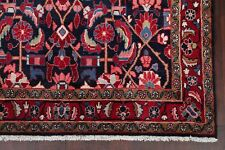 5'x10' Excellent Navy Blue/Red Floral Hamedan Lilian Area Rug Wool Hand-Knotted