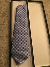 Boys Vineyard Vines Silk Tie Light Blue With Anchors And Whale Original Box
