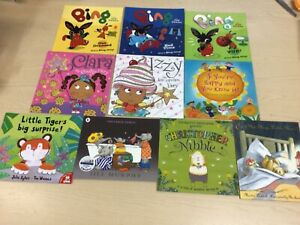 10 Kids Toddler Books Bundle Bing, The Large Family, Clara the Cookie Fair +More