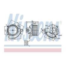 Fits Fiat Punto Evo 199 1.3 D Multijet Nissens Interior Heater Blower Motor Fan