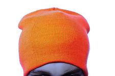 Mens Warm Blaze  Winter Stocking Safety Orange Hunters Hunting Hat Cap Md Lg NEW