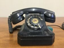 Vintage Telephone Phone Stromberg Carlson Rotary Dial System Black