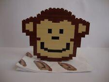 1x Mono Marrón monos Lego en mover las extremidades Animal Zoo