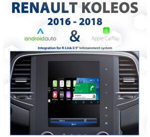 Renault Koleos R-Link II - 2016 to 2018 Android Auto & Apple CarPlay Integration