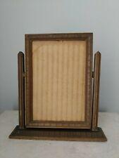 Antique Vintage pre1930 Wood Pivot Swing Swivel Art Deco Picture Frame 4 x 6